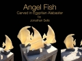 Angel fish carved in alabaster.