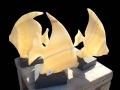 Angel Fish carved in alabaster.