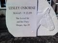 Horse. Memorial headstone.