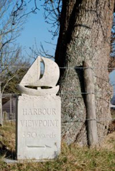 Harbour Viewpoint Carved Sign