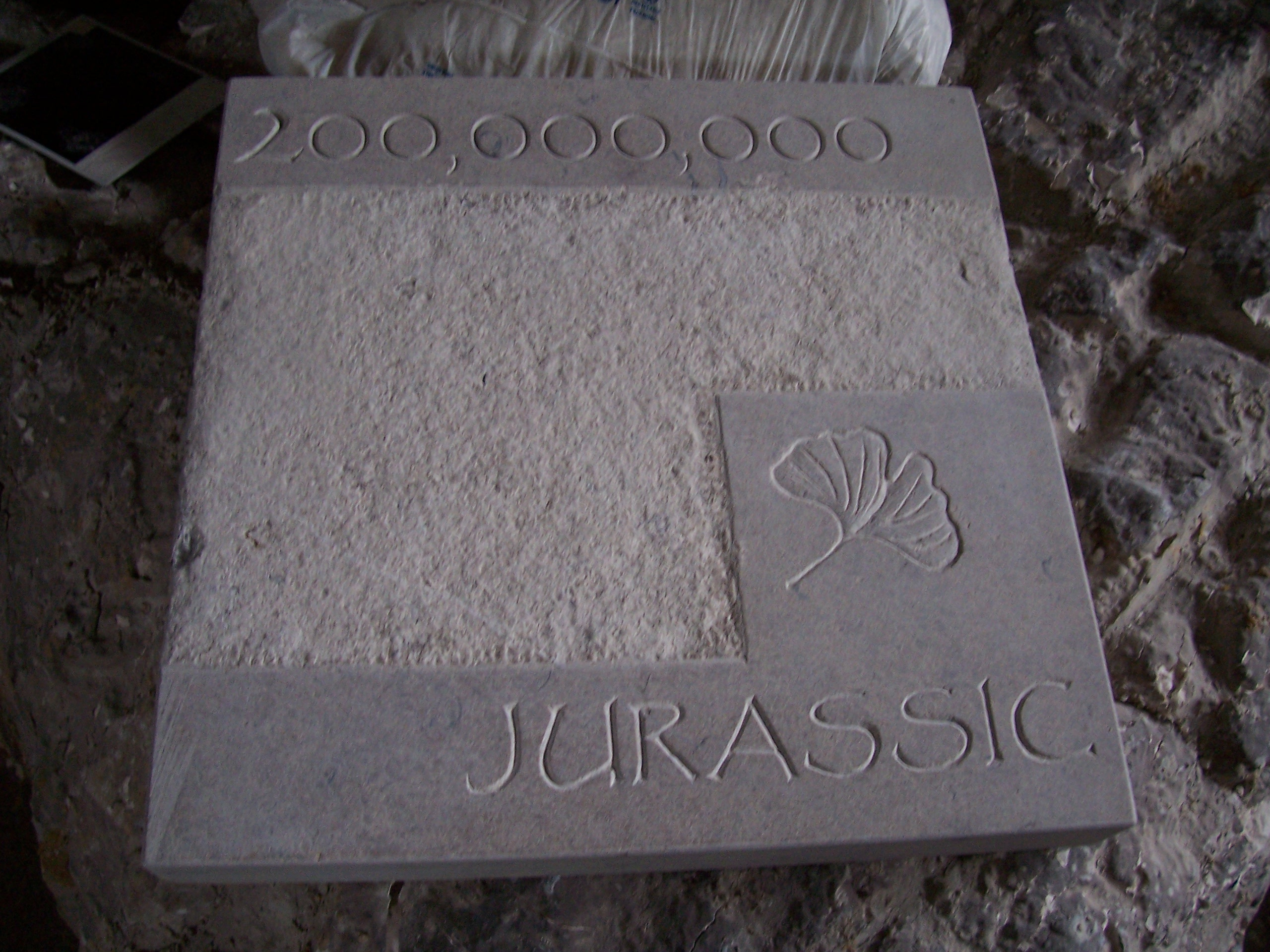 Stone carved lettering