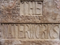Waterworks Carved sign