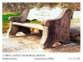 Corfe Castle Memorial bench.
