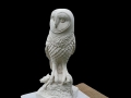 Barn owl carved in Caen stone.