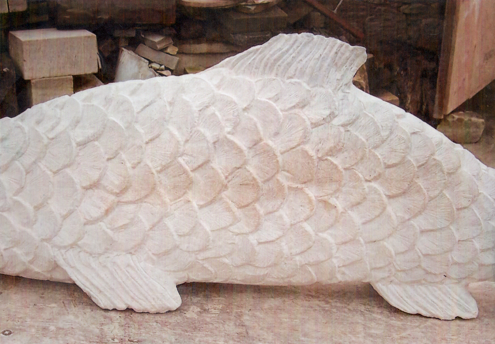 Fish carving.
