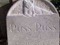 Cat headstone.