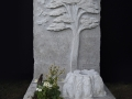 Yew tree headstone, 2018.