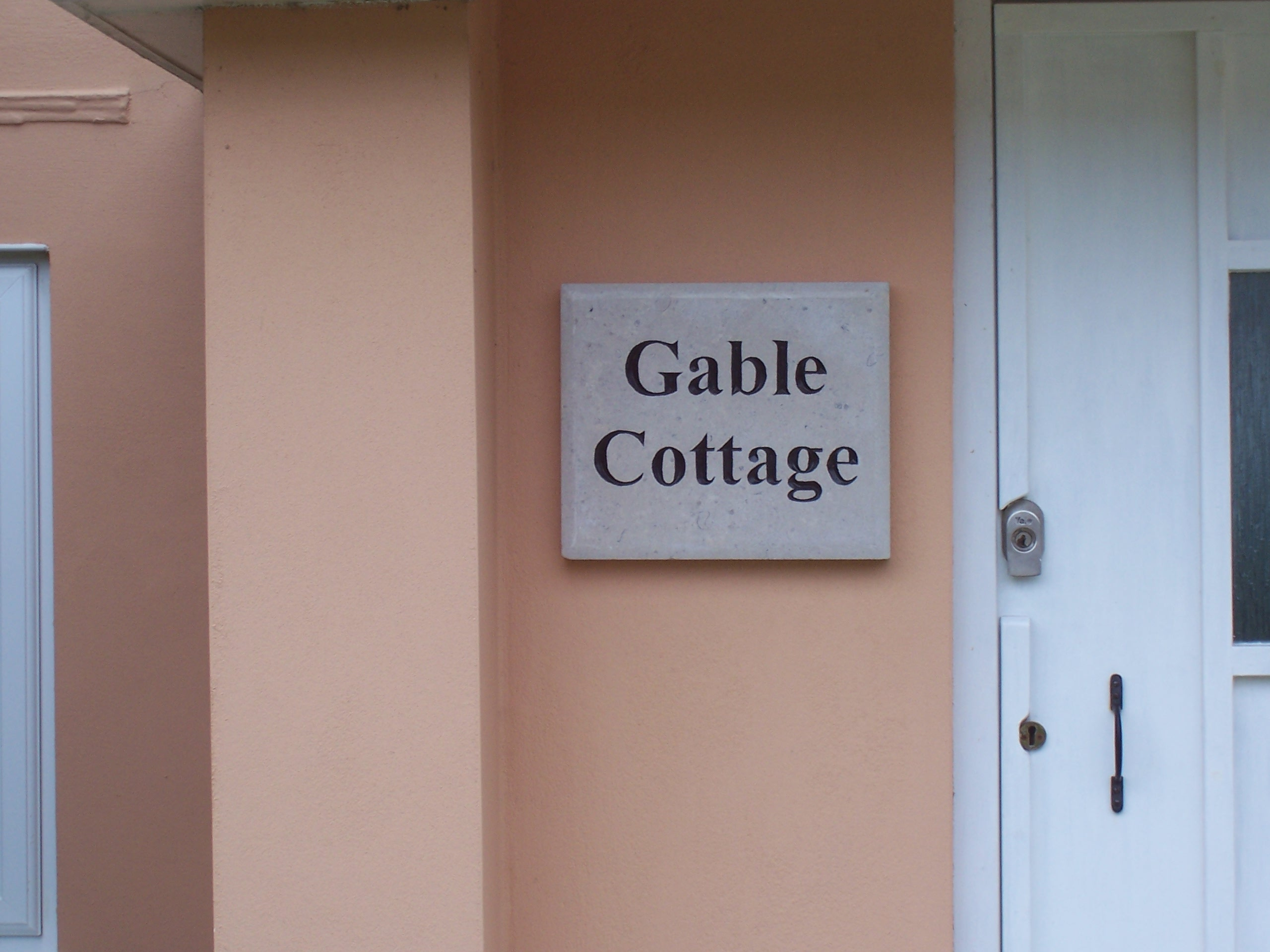'Gable Cottage' - carved house sign