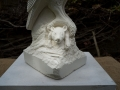 Barn Owl carved in Caen stone..