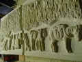 Stone carved panels for Genesis project, Plymouth. Stone carving by Jonathan Sells.