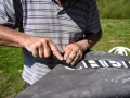 Slate carving lessons at Sandy Hill Studios, Corfe Castle, Dorset.