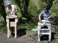 Stone carving tuition with Jonathan Sells at Corfe Castle, Dorset. Easter 2019.