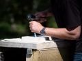 Stone carving tuition at Corfe Castle.