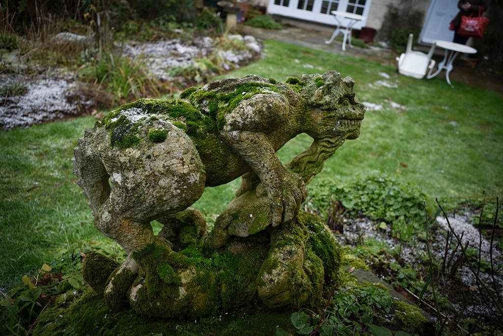 'Tribute to the Dragon'. Scultpure/stone carving in situ, 2019.