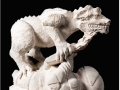 'Tribute' to the Dragon. Scultpure/stone carving by Jonathan Sells.