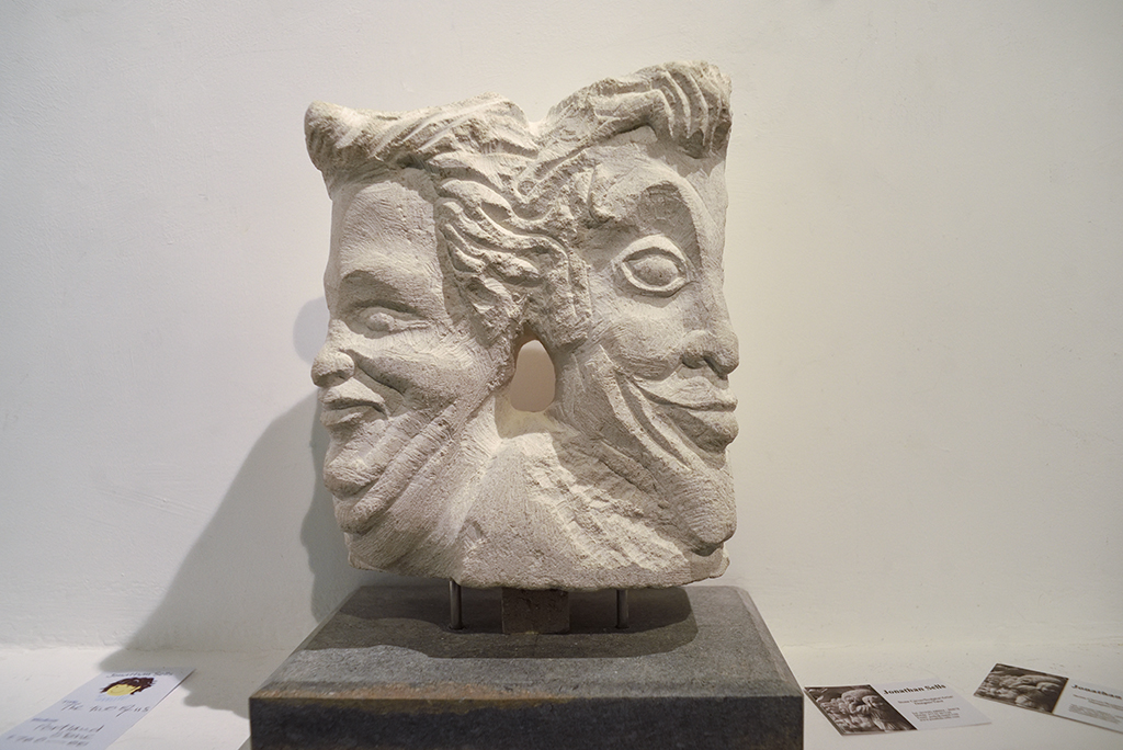'The Two Of Us' - carved from Purbeck stone, by Jonathan Sells. SOLD.