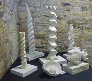 Carved Geometric Spirals