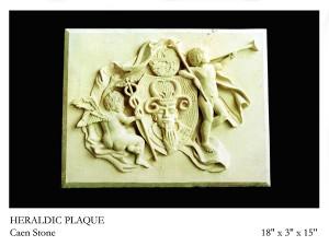 Heraldic Plaque carved in stone