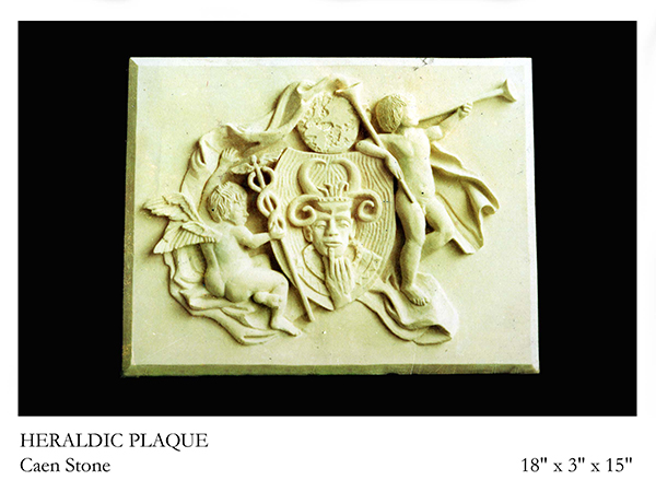 Heraldic Plaque carved in stone