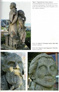 Tregonwell/Creeke Sculpture. Photograph from book: Bournemouth Curiosities, by W A Hoodless.