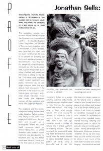 Deaf Arts UK - profile of sculptor Jonathan Sells