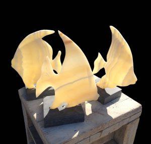 Angel Fish carved in alabaster