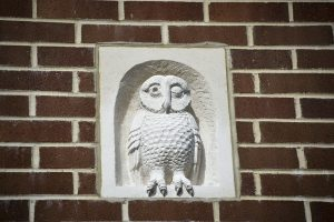 Stone carved owl.