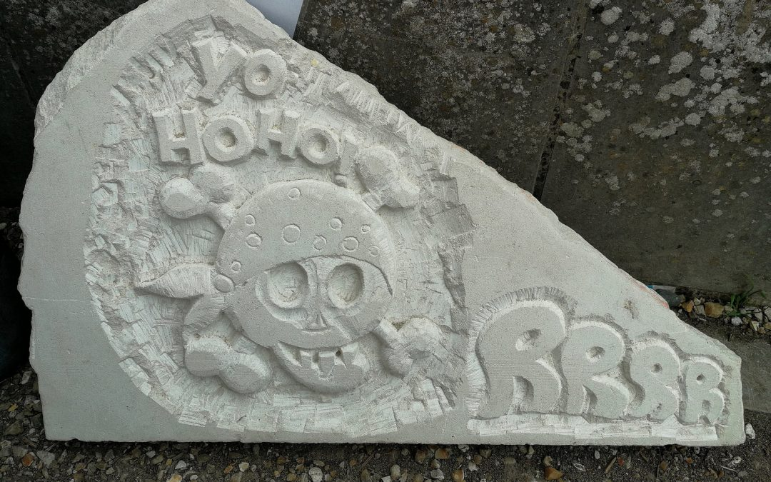 Pirate Stone Carving