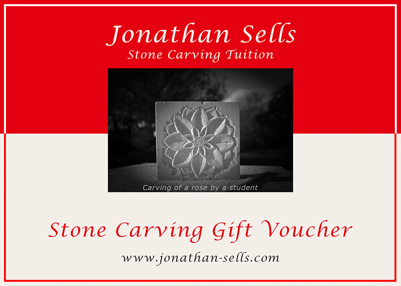 Adult stone carving gift voucher. for Dorset stone carving lessons