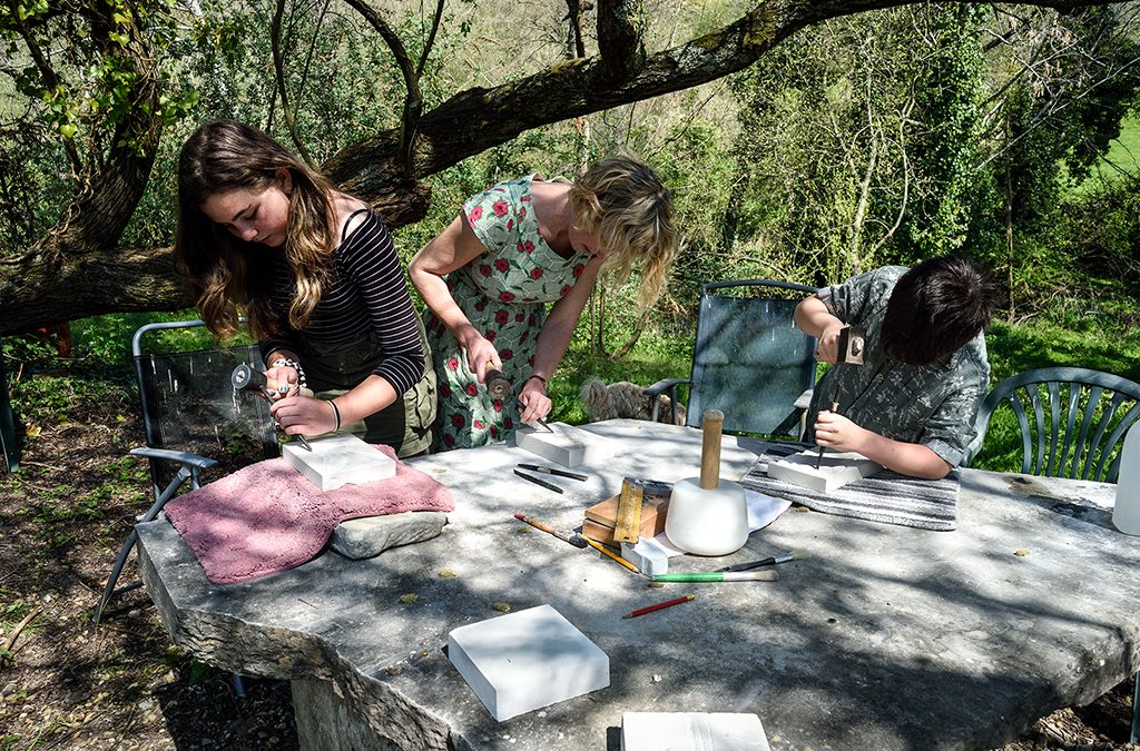 Stone Carving Lessons, Sandy Hill Studios, Corfe Castle