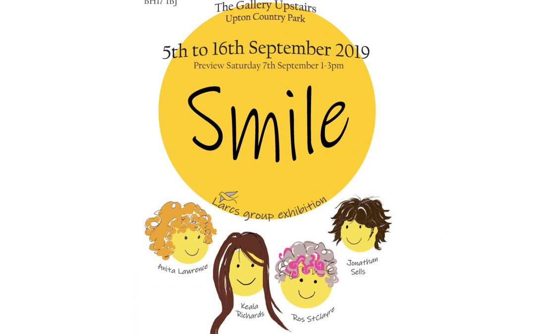 Smile art exhibition Poole, Dorset.