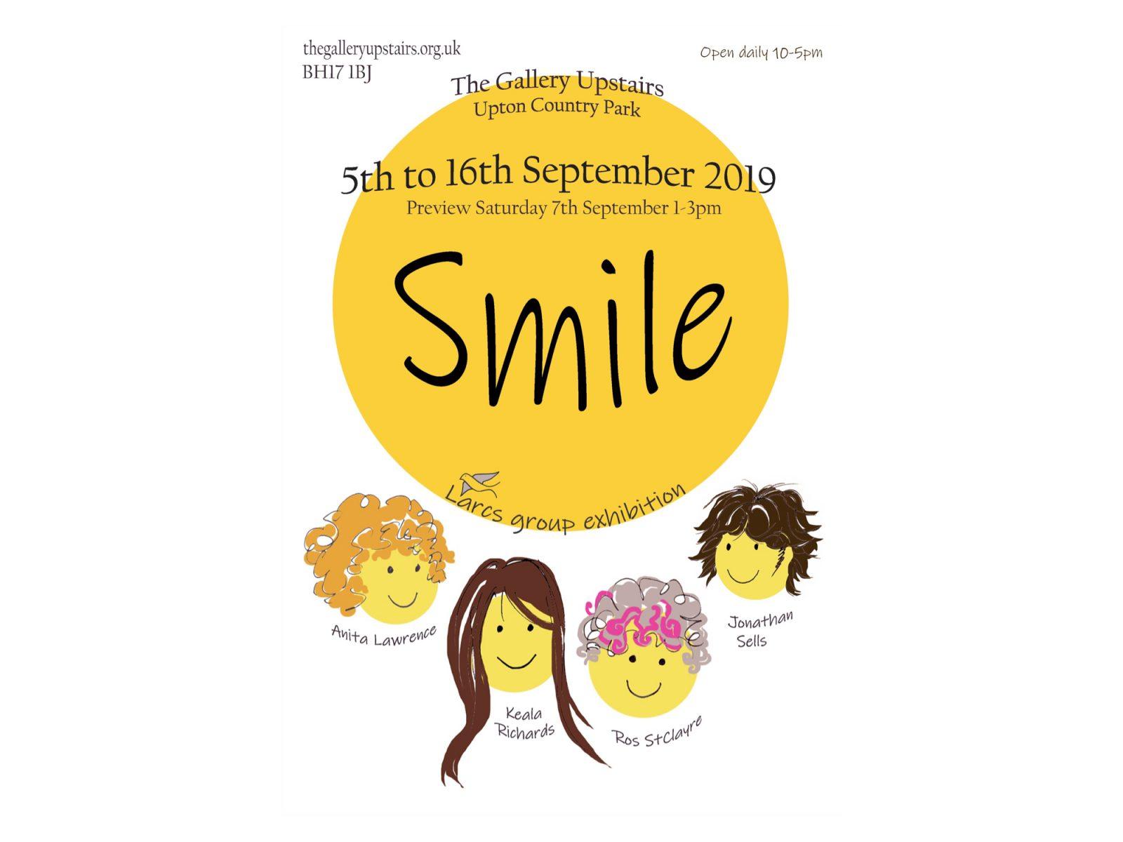 Smile art exhibition Poole, Dorset.