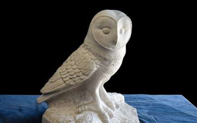 Barn Owl Carved From Purbeck Stone