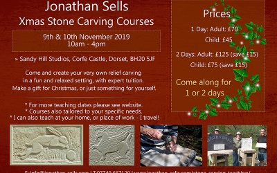 Christmas Stone Carving Lessons, Dorset – 9th /10th November