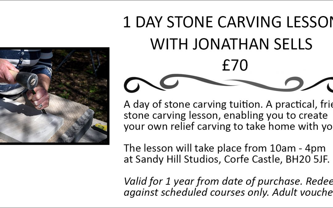 Dorset stone carving lessons - gift voucher.