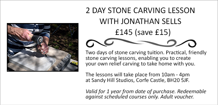 2 day Dorset stone carving lesson gift voucher.