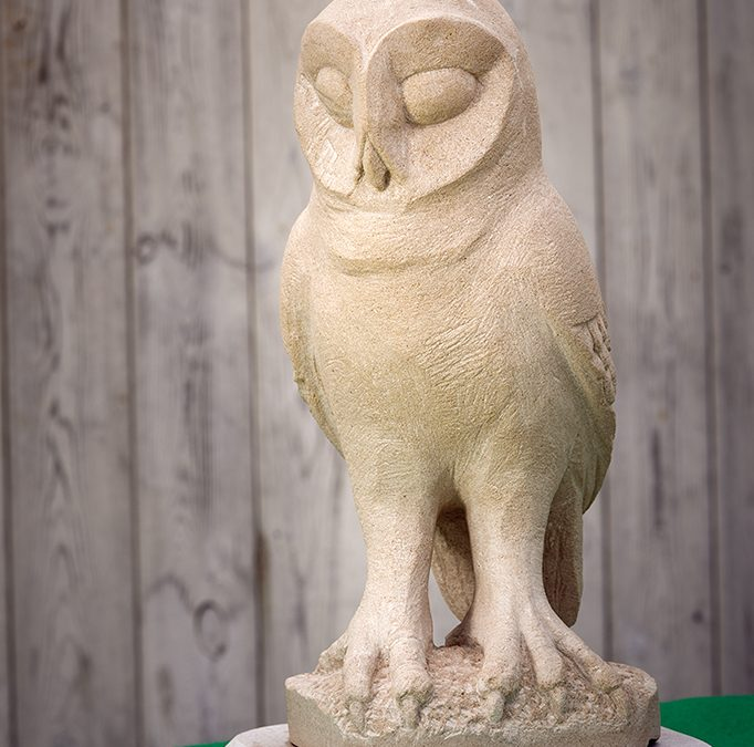 Owl Carved From Portland Stone