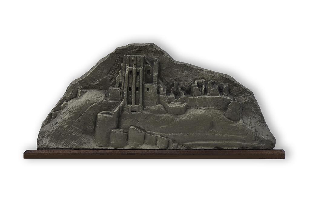 1. Corfe Castle sculpture by Jonathan Sells.